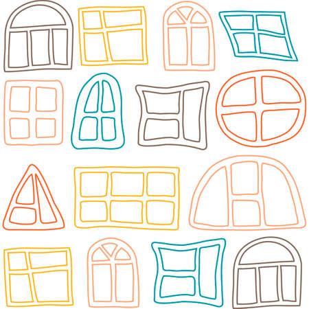 Patr�n sin fisuras con diferentes ventanas