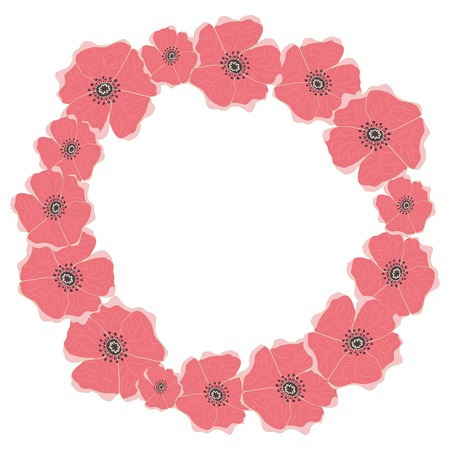 Wreath for invitations, cards and for any other kind of design  Illustration