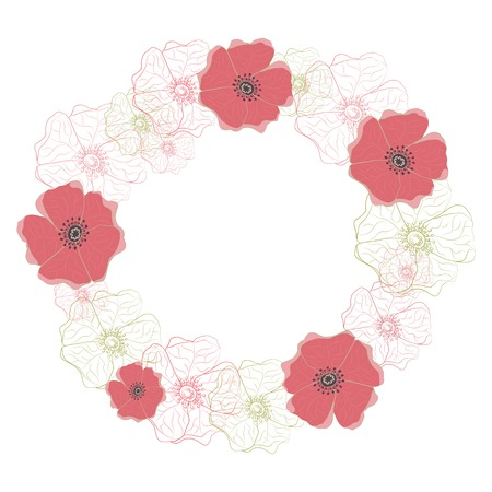 Wreath for invitations, cards and for any other kind of design  Vector