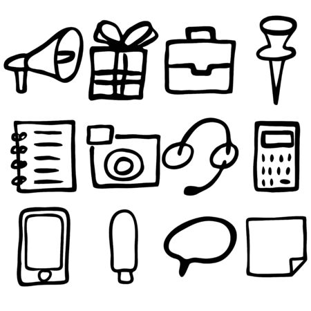 callcenter: Hand drawn icons