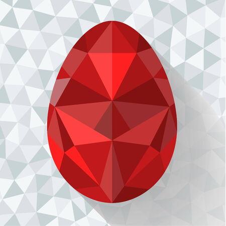 Flat design polygon of Easter egg illustration  Vector