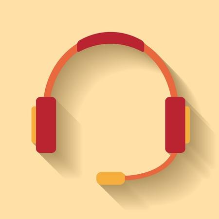 Flat design of Call center icon Illustration