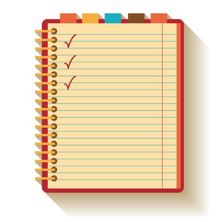Notebook. Flat design. Illustration
