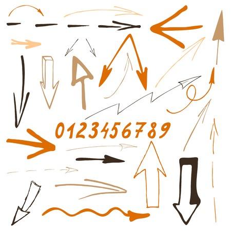 Conjunto flecha Sketch Vectores