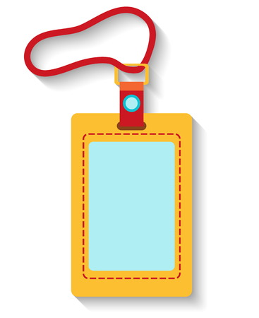 Flat design luggage tag isolated on white background. Vector illustration