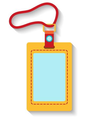 Plat ontwerp bagagelabel op een witte achtergrond. Vector illustratie