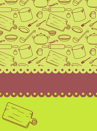 Cookbook cover. vector illustration