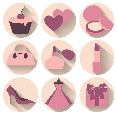 Kadınsı aksesuar Yassı tasarım öğeleri