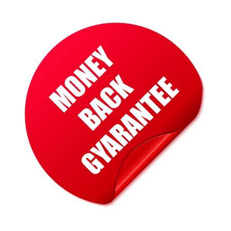Money back sticker. Vector Illustration.