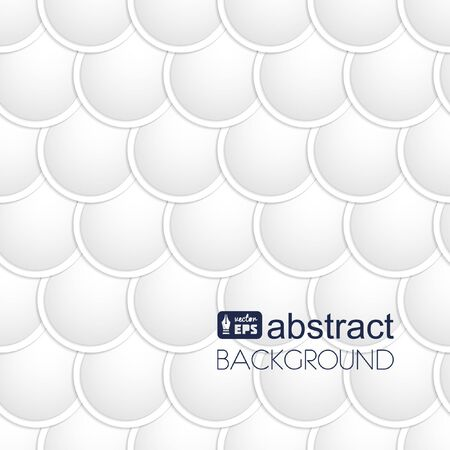 fish scales: Abstract white paper circles background. Fish scales texture.