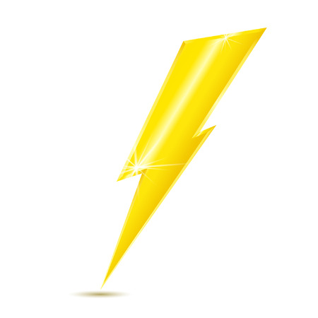 Lightning bolt icon isolated on white background. Vector illustration.