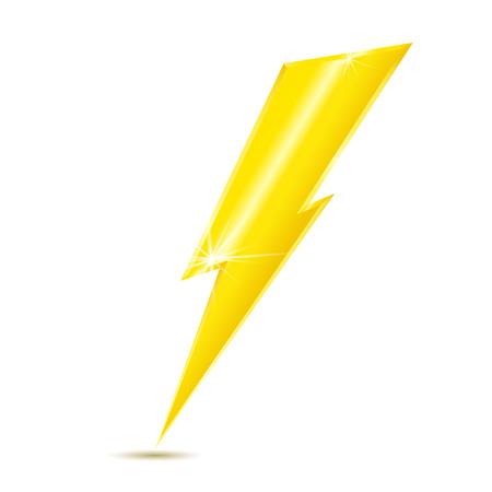 bolt: Lightning bolt icon isolated on white background. Vector illustration.
