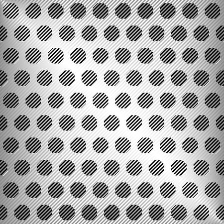 Vector de metal de plata textura abstracta, vector de fondo