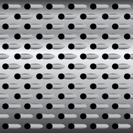 Background texture steel grater, vector abstract background