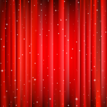 Abstract red Christmas background with bright center and snowflakes Illustration