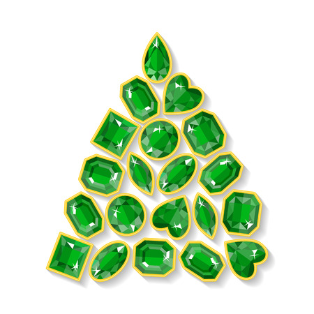 emerald stone: Christmas tree made of emeralds