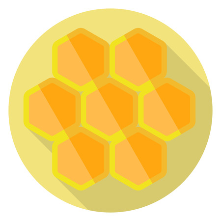 Flat design of honeycombs icon. Vector illustration. Illustration