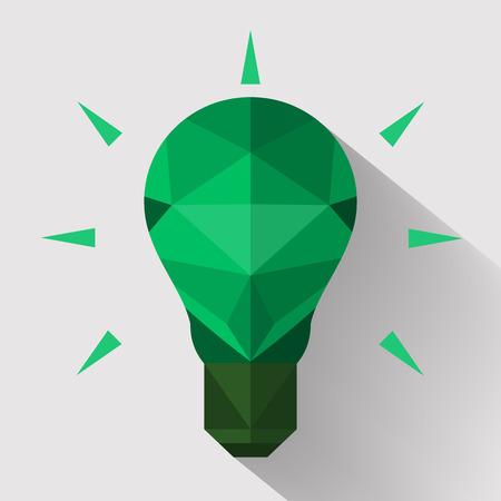 energysaving: Flat design polygon Light bulb