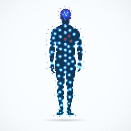 Abstract model of man. Vector illustration. Ilustracja