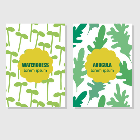 berros: Concepto de diseño de embalaje con hierbas aromáticas y especias