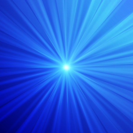 ray of light: Abstract blue background Illustration