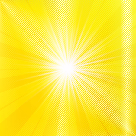 blinding: Abstract yellow brighy summer background. Vector illustration