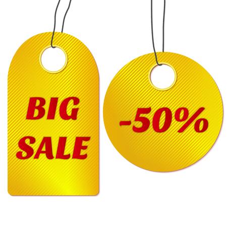 Etiquetas de la venta o etiquetas. Ilustraci�n del vector.