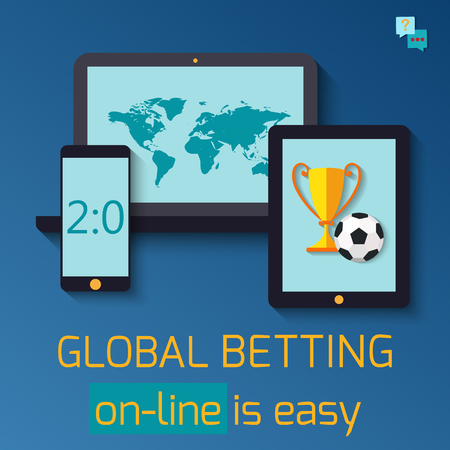 bet: Concept for web banner sports betting statistics. Illustration