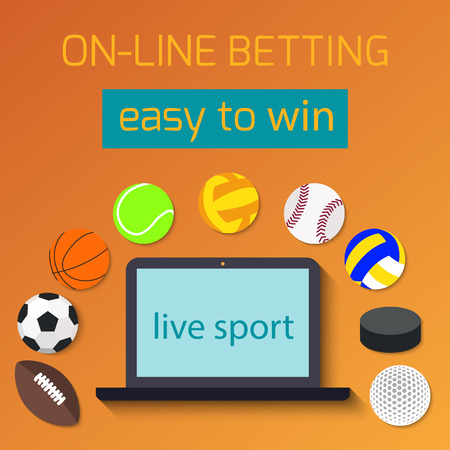 Concept for web banner sports betting statistics. Illustration