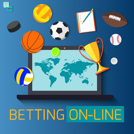 Concept for web banner sports betting statistics. Vettoriali