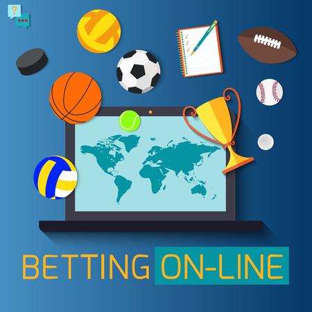 Konzept für Web-Banner-Sportwetten Statistiken. Vektorgrafik