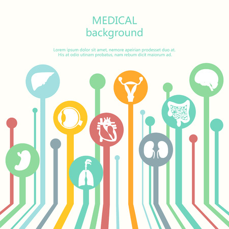 medical icons: Concept of web banner Medical background.