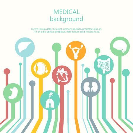 Concepto de bandera de fondo Web Médica. Vectores
