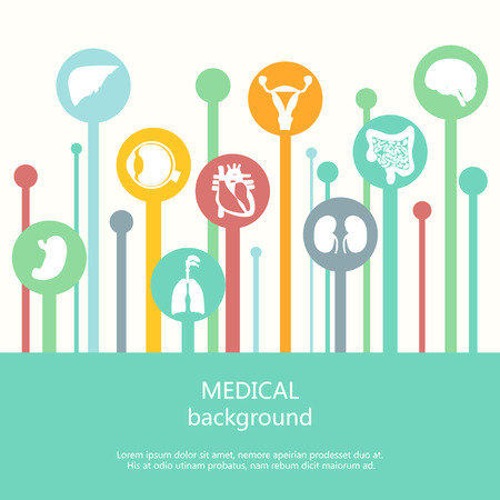 Concept of web banner Medical background.