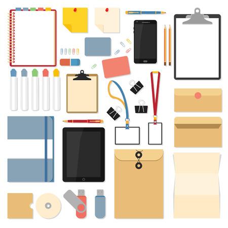 Flat mockups voor website-ontwerp