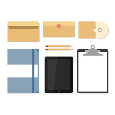 sketchpad: Flat mockups for website design