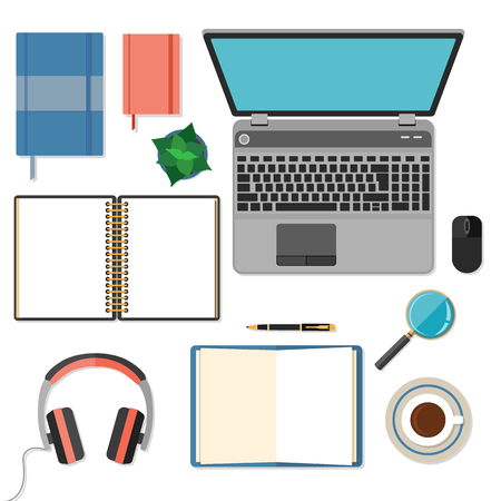 sketchpad: Big set of flat design items for business and graphic. Illustration