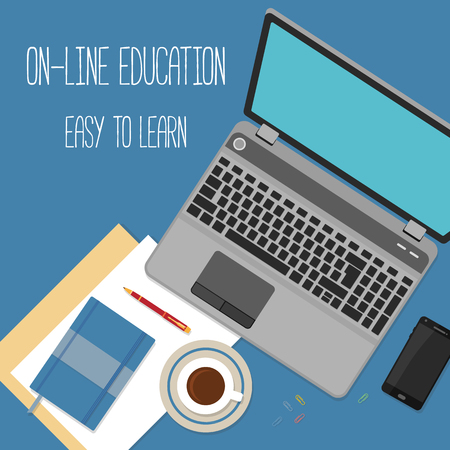 distance education: Flat design concept for online education. Concepts for web banners.