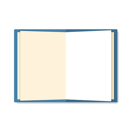 open notebook: Open a blank white notebook isolated on white background. Flat mockups for website design, infographics, web and mobile services and apps.