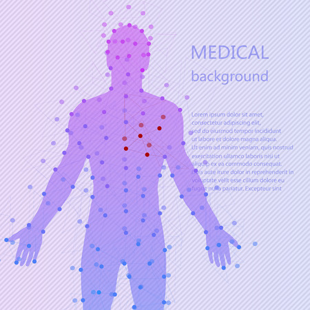 medical abstract: Medical background. Abstract model of man with points and lines. Vector background. Human anatomy