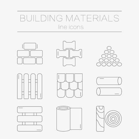 Satz von Linien Symbole für DIY, Bau, Baustoffe.
