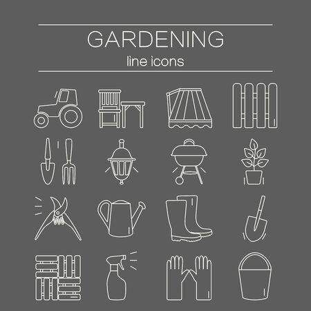 Bahçe ikon. Benzersiz ve modern set arka plan üzerinde izole edilmiştir. Vector illustration.