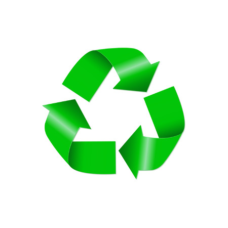 recycle icon: Recycle icon isolated on white background. Vector illustration Illustration