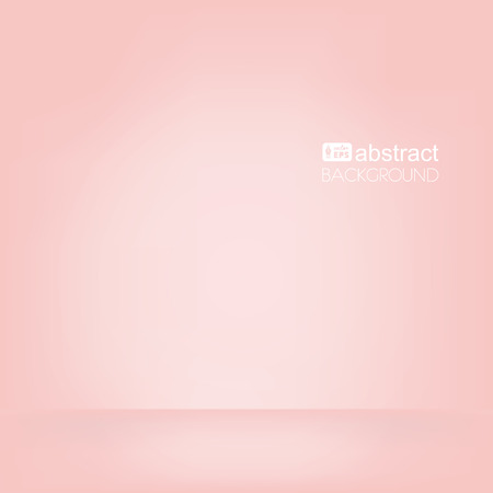 pastel color: Vector background with space for text, pink empty room, mock up for display products.