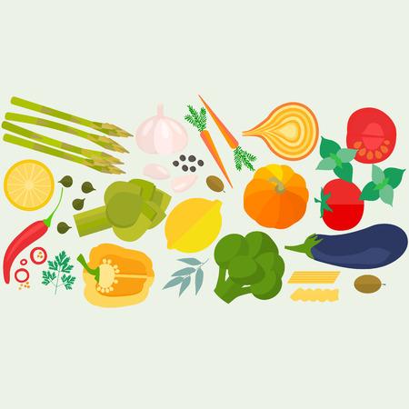 Bandera con los veh�culos dise�ados planos con copyspace. Concepto sano de la bandera de alimentaci�n saludables vector para revistas, sitios web y boletines de cocina. La comida sana hecha en el vector de estilo plano.