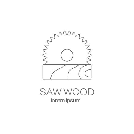 Saw wood logotype design templates. Vectores