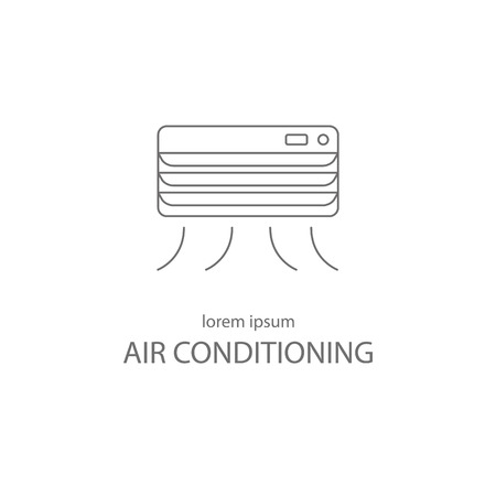 conditions: Air conditioning service logotype design templates.