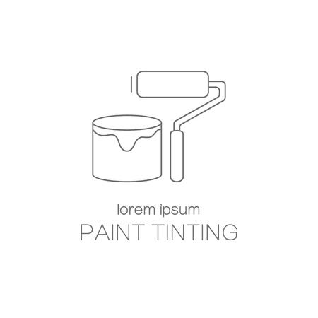 tinting: Paint tinting logotype design templates.