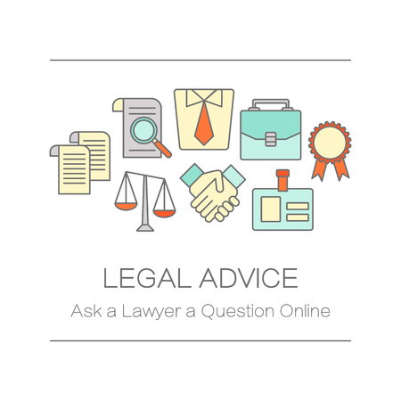 site: Concept of title site page or banner for legal advice
