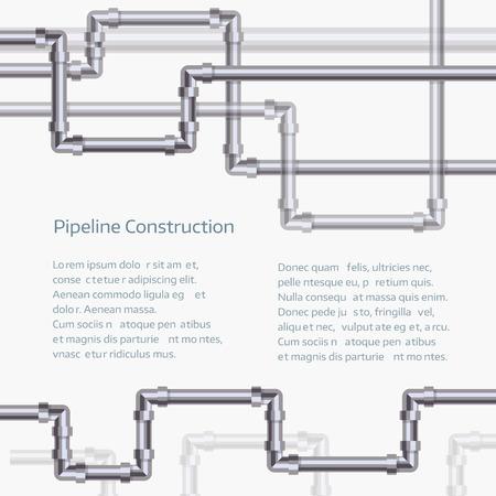 Abstrait arrière-plan horizontal avec pipeline plat conçu.
